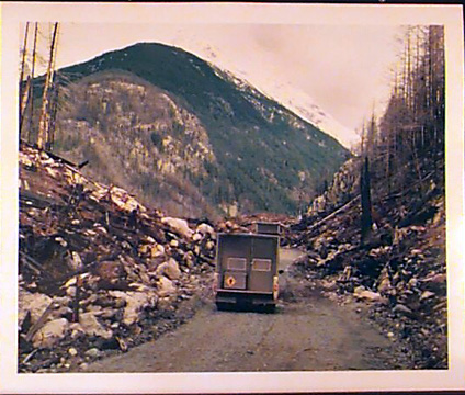 Travelling to Camp, Bella Coola, B.C.