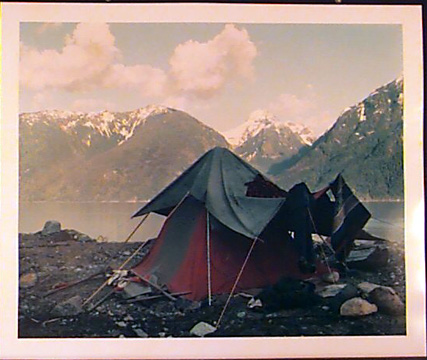 Fish's tent,Moh creek, Butte Inlet,BC