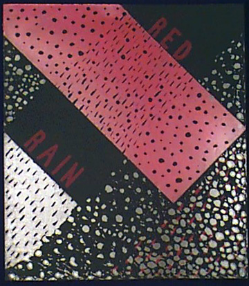 Red  Rain,  Black  Snow  (Diptych  Left  Side)
